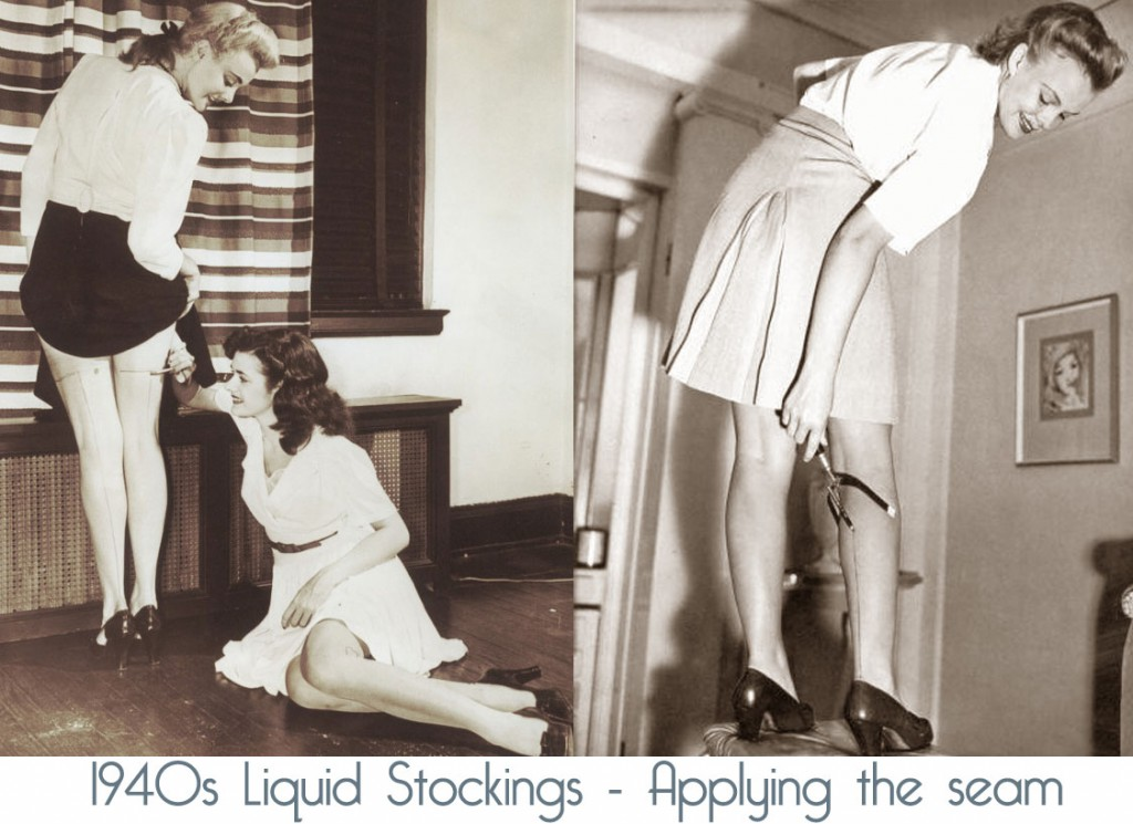 1940s-painted-stockings-applying-the-seams