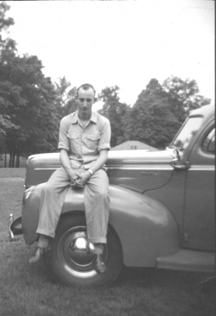 Dad with their 1941 Nash