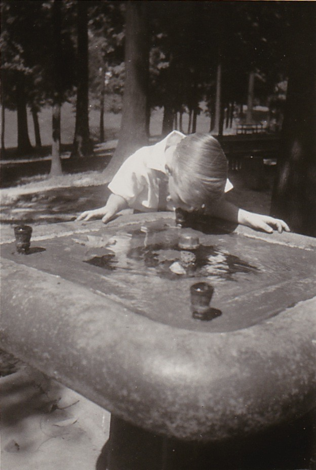 OLD POLISHED STONE WATER FOUNTAIN
