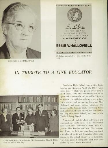 1957 MISS ESSIE HALLOWELL