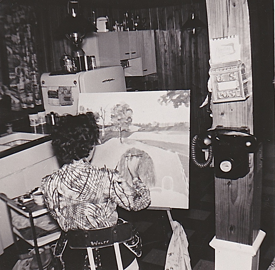 1956 MOTHER PAINTING
