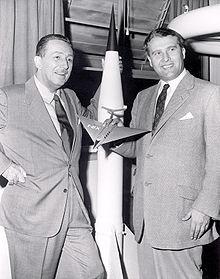 1954 WALT DISNEY & DR. WERNHER VON BRAUN