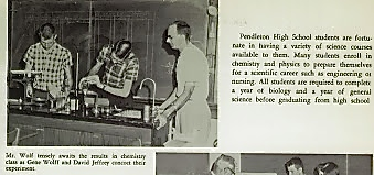 1958 CHEMISTRY CLASS