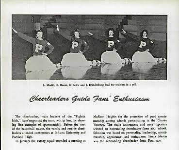 1958-59 VARSITY CHEERLEADERS