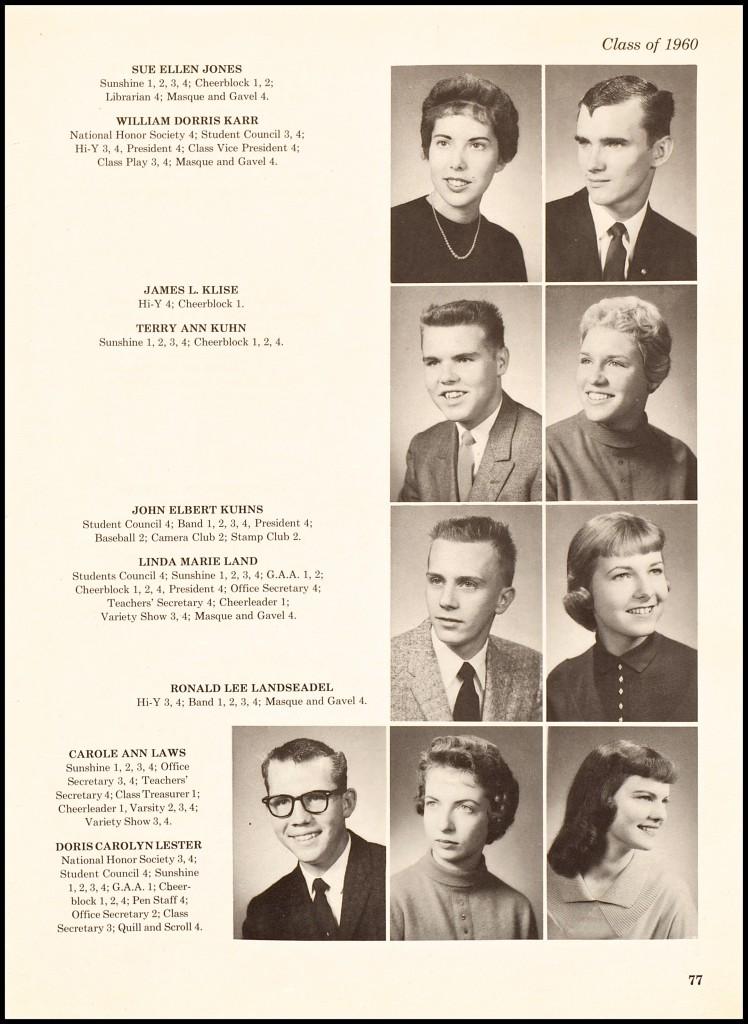 1960 CAROLE LAWS