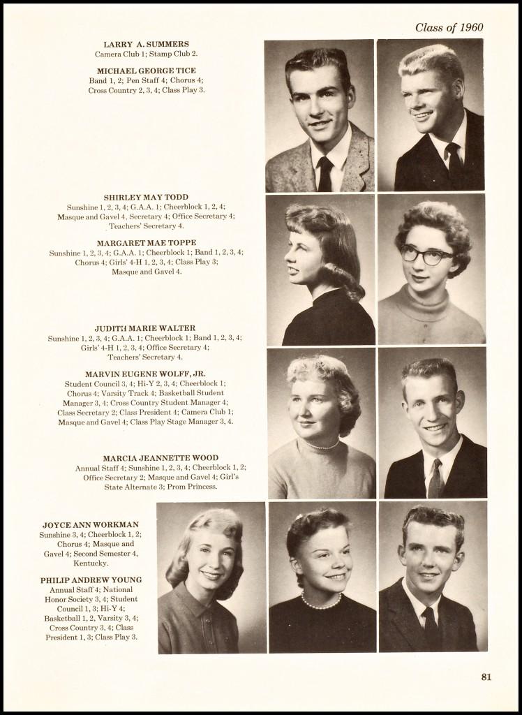 """1960 MARVIN """"GENE"""" """"SKIP"""" EUGENE WOLFF, JR."""