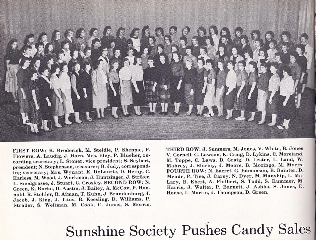1959 SUNSHINE SOCIETY