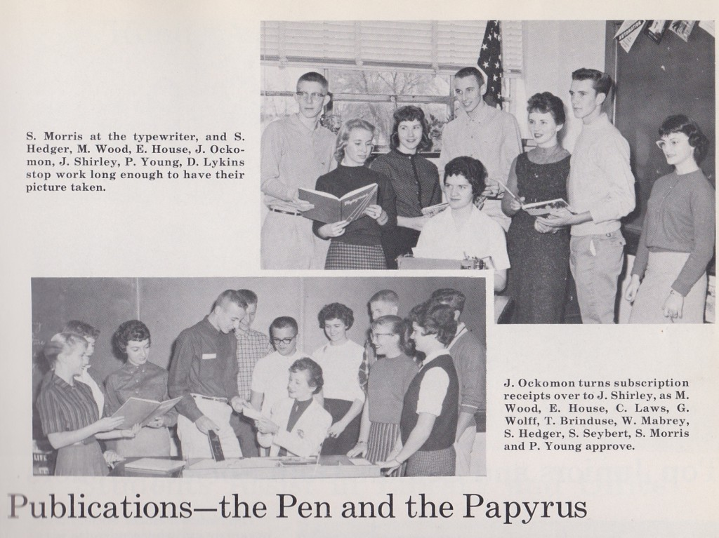 1960 YEARBOOK STAFF