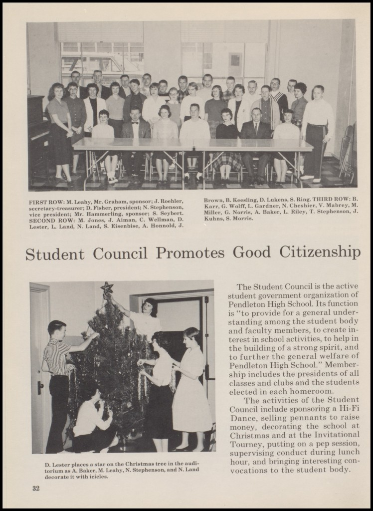 1960 STUDENT COUNCIL